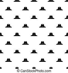Woman hat pattern vector - Woman hat pattern seamless in...
