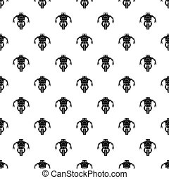 Robot with big eyes pattern vector - Robot with big eyes...