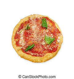 Montanara, fried Pizza with tomatoes, parmesan and...