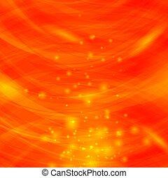 Orange Burst Blurred Background. Sparkling Texture