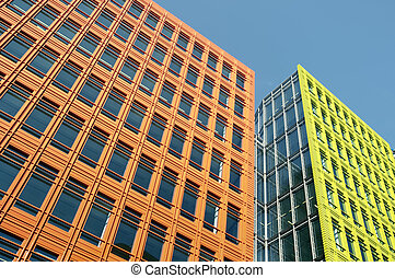 New colorful office building in Central-London.