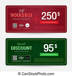 Gift voucher or gift coupon template for award redemption...