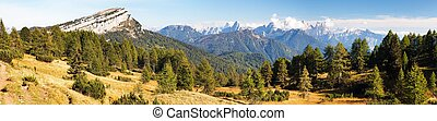 Panoramic view from Dolomites, Italy - Panoramic view from...