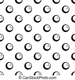 Black and white cricket ball pattern vector - Black and...