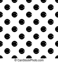 Black and white tennis ball pattern vector - Black and white...