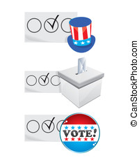 Election badges - Set of badges for USA or other election...