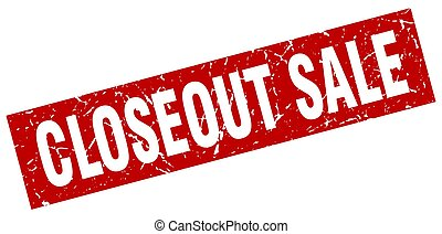 square grunge red closeout sale stamp
