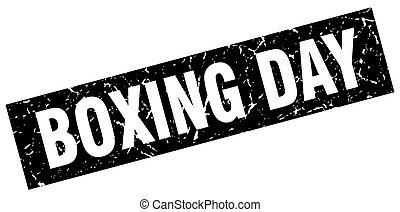 square grunge black boxing day stamp