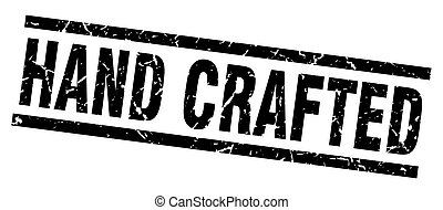 square grunge black hand crafted stamp