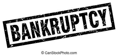 square grunge black bankruptcy stamp