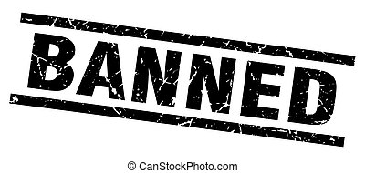 square grunge black banned stamp
