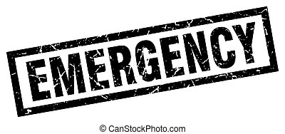 square grunge black emergency stamp