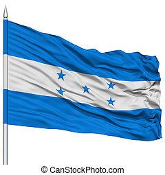 Honduras Flag on Flagpole