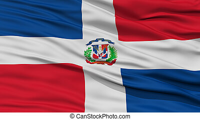 Closeup Dominican Republic Flag