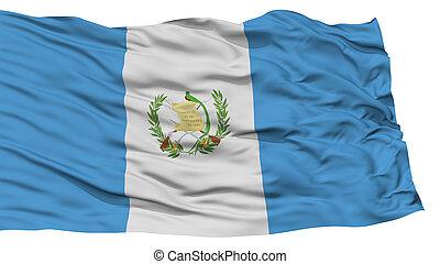 Isolated Guatemala Flag, Waving on White Background, High...