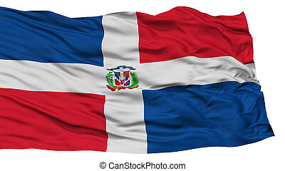 Isolated Dominican Republic Flag