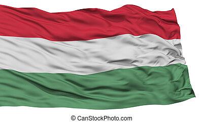 Isolated Hungary Flag, Waving on White Background, High...