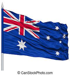 Australia Flag on Flagpole