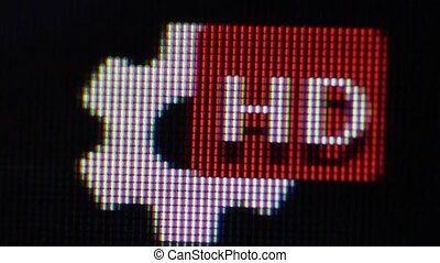 HD icon on web page. image captured directly from the...