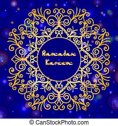 Greeting card design with text Ramadan Kareem for muslim...
