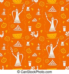 Coffee pattern Arabica - Coffee vector seamless pattern for...