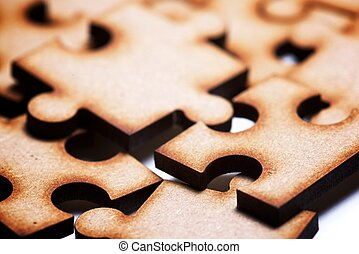 Puzzle close up