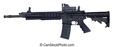 Assault weapon - semi automatic rifle known as an AR-15...