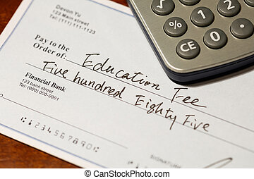 cheque for education fee - Fake cheque, cheque for education...