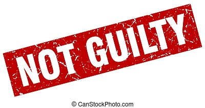 square grunge red not guilty stamp