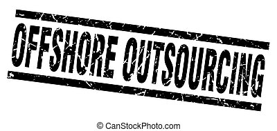 square grunge black offshore outsourcing stamp