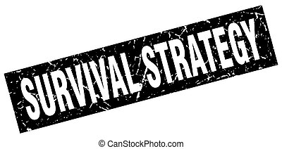 square grunge black survival strategy stamp