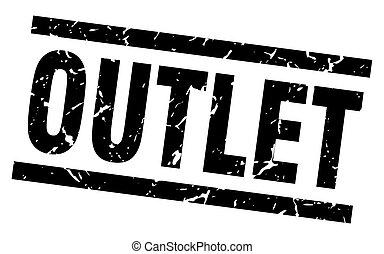square grunge black outlet stamp