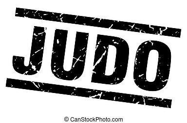 square grunge black judo stamp