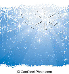 Square light burst background with stars and dots giving a festive mood. Great for winter, Christmas or any festive theme.