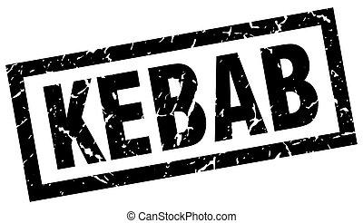 square grunge black kebab stamp