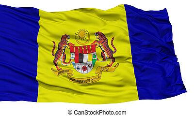 Isolated Putrajaya City Flag, Capital City of Malaysia,...