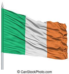 Ireland Flag on Flagpole