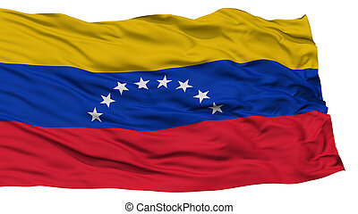 Isolated Venezuela Flag, Waving on White Background, High...
