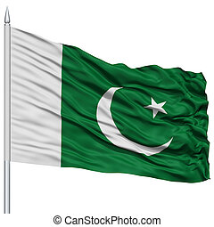 Pakistan Flag on Flagpole