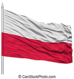 Poland Flag on Flagpole