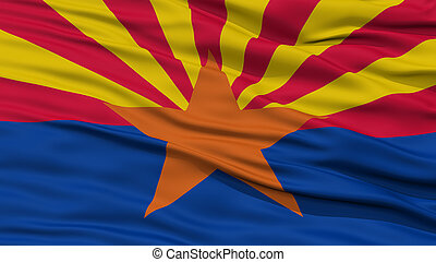 Closeup Arizona Flag, USA state - Closeup Arizona Flag on...