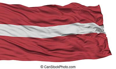 Isolated Latvia Flag, Waving on White Background, High...