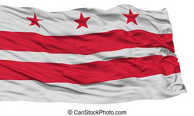Isolated Washington DC City Flag - Isolated Washington DC...