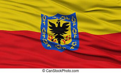 Closeup Bogota City Flag, Colombia - Closeup Bogota City...