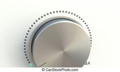 Rotating knob. Conceptual 4K clip