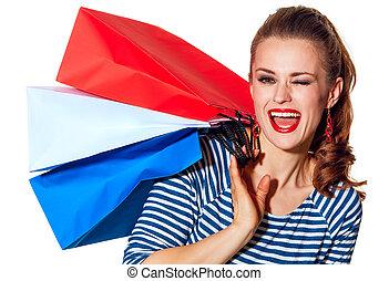 bolsas, guiñar, fashion-monger, plano de fondo, compras,...