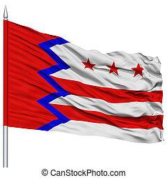 Washington City Flag on Flagpole, USA