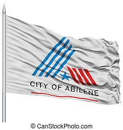 Abilene City Flag on Flagpole, USA - Abilene City Flag on...