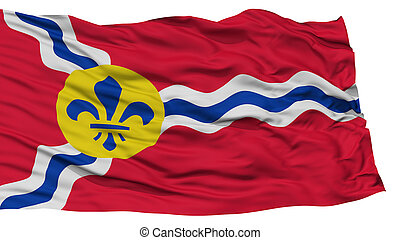 Isolated St. Louis City Flag, United States of America -...