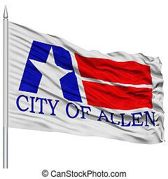 Allen City Flag on Flagpole, USA - Allen City Flag on...